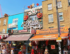 Camden Town. London (Roy Richard Llowarch) Tags: camden camdentown camdenmarket camdenhighstreet london londonengland londonarchitecure markets streets shopping shop shops england english art travel travelling cities city innercity people places royllowarch royrichardllowarch funky clouds sunshine sunny summer architecture europe european shoes clothing market artwork pubs restaurants weekends fun greatbritain uk unitedkingdom color colour colorful colourful daytrips holidays holiday tourism tourists lovelondon londoners hip trendy life british londonlife londonliving outdoor