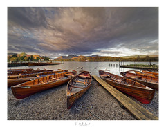 Sunrise at Derwent (focus9_photography) Tags: derwent crow park boats england sunrise clouds leading lines wooden peace ngc