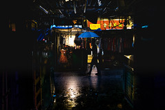 Blue and Red (Scofield Chan) Tags: fujifilm urban city rain rainy raining local market advanture hongkong hongkongculture china oriental asia fujinon xpro2 black colors grey shadow lighting