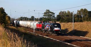 EGP ES 64 U2 - 002 + EGP 212 024 + DGS 93769 Neustrelitz - Geseke  - Priort