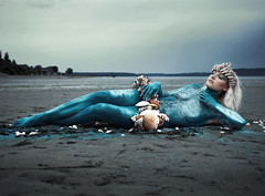 """""""Mermaid"""" (Kavan The Kid) Tags: kavan kid fine art photography fineart self portrait magical mythical strange surreal queen weird wow 365project eccentric enstine fantasy fire fairytale game happy beauty beautiful conceptual cinematic cardoza"""