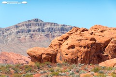 Valley Of Fire Rock Formations 15 (freshairphoto) Tags: valleyoffire state park overton nevada desert rock red formation mountain blue sky artspearing nikon d500 1680 zoom handheld