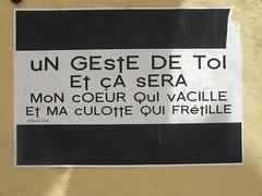 DSCF8471 (Benoit Vellieux) Tags: affiche poster plakat affichette advertisement erotism coeur heart herz culotte panties unterhose streetart