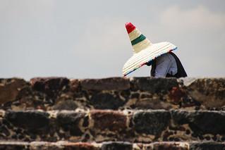 a large hat