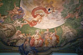 Genova, Piazza De Ferrari 4, Palazzo Doria De Fornari, Apollo und die Musen von Lorenzo De Ferrari