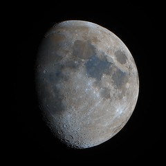 The Mineral Moon (75% Waxing gibbous) (Andrew Klinger) Tags: