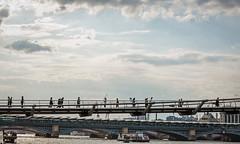 On Millenium Bridge (PhredKH) Tags: canonphotography fredkh photosbyphredkh phredkh splendid sky bluesky clouds cityoflondon city cityview citycentre people peopleonthestreet streetsoflondon londonstreets londonpeople bridgesoflondon bridge thames riverthames water