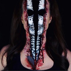Incredible! By @lisamarie_murphy (ineedhalloweenideas) Tags: halloween makeup make up ideas for 2017 happy night before christmas october 31 autumn fall spooky body paint art creepy scary horror pumpkin boo artist goth gothic amazing awesome