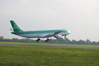 EI-GAJ Aer Lingus - Airbus A330-302 minus starboard winglet