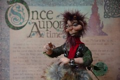 Glyn the faun (Valentina Bruschi) Tags: faun storyteller fantasy fantastic mythologic creature puck satyr ooakdoll handmade