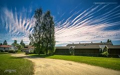 Askim, Norway 0350 - Clouds over the Road (IVAN MAESSTRO) Tags: town road clouds sky summer askim norway hdr ipmaesstro landscape scandinavia sony canon
