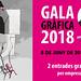 Propuesta ganadora del concurso sobre el cartel de la Gala Gráfica 2018 realizado por Laura Capellades, estudiante de 1º de Diseño y Editorial Multimedia en la Escuela de Formación Profesional Antoni Algueró.