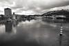 Echelons (Atreides59) Tags: fleuve rhone rhône water eau urban urbain ciel sky vienne isère isere black white bw blackandwhite noir blanc nb noiretblanc pentax k30 k 30 pentaxart atreides atreides59 cedriclafrance nuages clouds