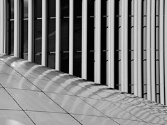 Luxembourg Philharmonie 2 (RobertLx) Tags: symmetry graphic monochrome bw architecture building modern contemporary new luxembourg concert hall lines geometric europe concerthall philharmonie city abstract black