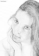 Roxanne (camperpida) Tags: modella model ritratto portrait donna woman girl beauty bella bellezza beautiful redhead rossa lentiggini freckles sexy hot legs lips roxanne intense look draw pencil shooting photoset nude nuda art arte sensuale sensual closeupstudio closeup light studio luci