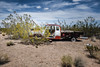 Lanfair Road, Mojave National Preserve, California (paccode) Tags: solemn d850 sand landscape desert nationalpark brush serious quiet california abandoned forgotten mojave dump wreck creepy antique truck bushes colorful unitedstates us