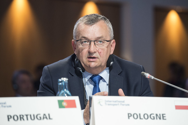 Andrzej Adamczyk participates during the Open Ministerial Session