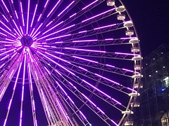 Riesenrad (sefakrky) Tags: deutschland modern essen night germany life dark light pink led riesenrad ferris wheel w