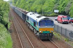GBRF 66711 - Mansfield (the mother '66' 66001) Tags: gbrf class66 66711 mansfield robinhoodline railways rail nottinghamshire 6e89 wellingborough rylstone tenterlane