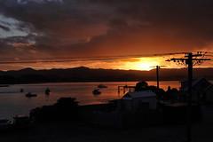 As day ends.... (flying-leap) Tags: newzealand nz pacificocean southisland light weather cloudsstormssunsetsunrise clouds sunset sony sonydscrx10m4 sonydscrx10iv sonyrx10iv northotago moeraki moerakivillage bay ocean boats fishingboats