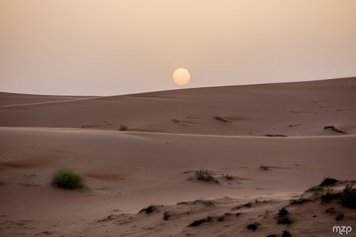 Sunset on Wahiba Sands