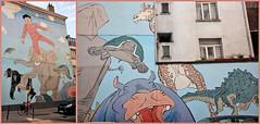 """""""Les rêves de Nic"""" fresque de Hermann, Rue de la Senne - Rue des Fabriques, Bruxelles, Belgium (claude lina) Tags: claudelina belgium belgique belgië bruxelles brussels fresque bd parcoursbd lesrêvesdenic hermann artderue streetart"""