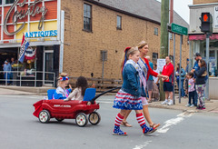 Beauty Queens In Tow (John Kocijanski) Tags: people groupofpeople streetphotography streetcandid street parade memorialday memorialdayparade sullivancounty canon40mmstm canon5dmkii wagon vehicle