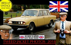 British Cars tweed jacket photos 2018 part 18 (The General Was Here !!!) Tags: car auto nz kiwi cap coat jacket mens old older fashion retro canon outdoor driving vintage tweed houndstooth 2018 dapper oldman wearing blazer plaid distinguished ride run veteran timer british uk scottish english country cars autos vehicles show club rally parade triumph 2000 tc newzealand vintagecarclub queensbirthday june oldcar southisland classiccars headlight windscreen wheels chrome alt silverfox menswear weartweed