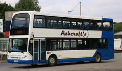 Ashcroft's Travel, Widnes HIG 8905 on Cheshire schools services. (Gobbiner) Tags: ashcrofttravel hig8905 eastlancs widnes b7tl volvo londonsovereign myllennium vyking po54abz vle32