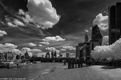 D7K_9394: OXO building. Low tide. London in infrared (Colin McIntosh) Tags: infrared london nikon d7100 kolari 720nm