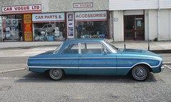1961 Ford Falcon (occama) Tags: 1961 ford falcon old car cornwall uk blue us usa american compact 982xue