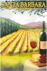Postcrossing US-5372452 (booboo_babies) Tags: wine vineyard santabarbara california postcrossing
