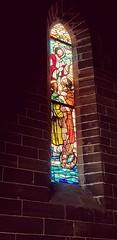 Alcúdia - Temple Church (vantyphoon) Tags: colouredwindow window light darkandlight church temple catholic spain balearen mallorca daylight colour alucdia