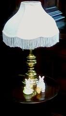 Library lamp! (Maenette1) Tags: lamp bunnies table spiespubliclibrary menominee uppermichigan flicker365 allthingsmichigan absolutemichigan projectmichigan