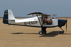 G-ESCP (QSY on-route) Tags: gescp lancashire landing 2018 fly in knott end beach airfield 09062018
