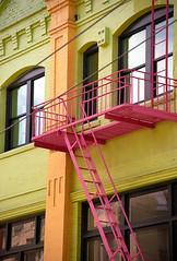 "San Francisco – Chinatown Balcony ""Grant Street"" (David Paul Ohmer) Tags: san francisco california chinatown balcony steps color grant street fire escape"