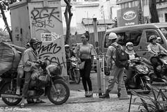 -c20170629-810_4107 (Erik Christensen242) Tags: hochiminhcity vietnam vn chaos traffic usingsidewalk bw monochrome