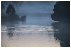 Blue (Greenstone Girl) Tags: blue pond ripples sunrise