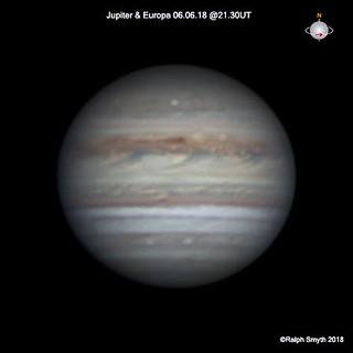 Jupiter & Europa Transiting 06.06.18  @21.30UT