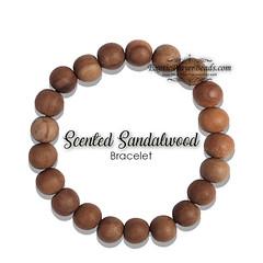 SANDALWOOD 11MM PRAYER BEADS BRACELET 21-BEAD RED ELASTIC STRING (exoticprayerbeads.com) Tags: tasbih tesbih prayer beads prayerbeads zikir dhikr rosary muslimrosary muslim