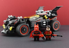 Dc minifigs #7 Red and black team (Alex THELEGOFAN) Tags: lego legography minifigure minifigures minifig minifigurine minifigs minifigurines batman batmobile robin beyond skin black red dc comics dark super heroes team