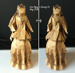 Lady (lisa.nqd) Tags: origami paperfolding boxpleating lady victorian kraft