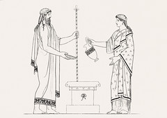 Libation from An illustration of the Egyptian, Grecian and Roman costumes by Thomas Baxter (1782-1821).Digitally enhanced by rawpixel. (Free Public Domain Illustrations by rawpixel) Tags: illustration psd publicdomain otherkeywords afterlife anillustrationoftheegyptian ancient ancientgreek antique art artistic baxter belief bowl cc0 drawing empire goddess gods grecianandromancostumes greek historic historical history jar jug libation mythology old oldtime romans sketch standing stick thomasbaxter vintage worship