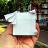 """Origami Challenge 30/365 """"Quadrato Autostoppista Galattico""""  Modello creato nel 2018. ------------------------------------------- """"Square Hitchhiker of the Galaxy"""" Model created in 2018.  #origami #cartapiegata #paperfolding #papiroflexia  #paper #paperar (Nocciola_) Tags: towel theguide papiroflexia paperfolding originaldesign danielacarboniorigami paper origami towelday paperart cartapiegata createdandfolded pangalacticgargleblaster hitchhikersguidetothegalaxy"""