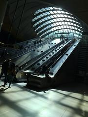 Canary Wharf Tube (Jason Turner) Tags: canarywharf london underground metro station publictransport masstransit e14 architecture normanfoster jubileeline docklands england uk finance financialdistrict light shadow