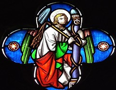 Sheffield - Ecclesfield, St Mary's Church - Stained Glass (Glass Angel) Tags: georgehedgeland southyorkshire stainedglass stmaryschurch ecclesfield sheffield