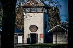 Convent (Melissa Maples) Tags: münchen munich deutschland germany europe nikon d3300 ニコン 尼康 nikkor afs 18200mm f3556g 18200mmf3556g vr dachau labourcamp concentrationcamp winter holocaust guardtower tower yard convent
