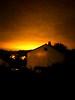 Lightning in the night (gorch_de) Tags: orange dark reflection clouds night sky lightning