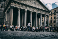 Playing the Pantheon (8230This&That) Tags: europe italy mediteranean rome roma romantemple ancientrome ancientruins art culture history pantheon ruins street streetpeople streetperformer violin violinst victorangelov musician streetmusician lazio it
