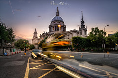 Cathedral (Perez Alonso Photography) Tags: london cathedral stpaulscathedral bluehour sunset londres longexposure